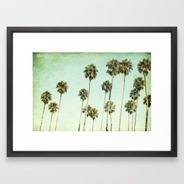 Palm Trees (California Dreaming III) Framed Art Print