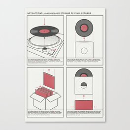 Handling and Storage of Vinyl Records Canvas Print
