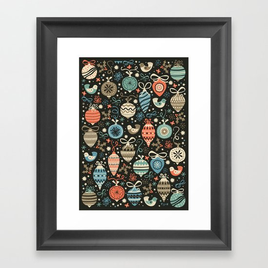 Festive Folk Charms Framed Art Print