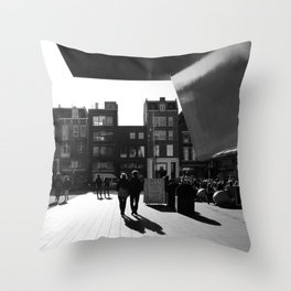 loving walk in Amsterdam Throw Pillow