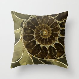 Fossil in brown tones Throw Pillow