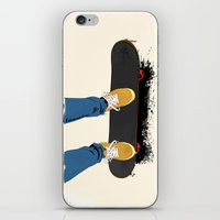 skate iPhone & iPod Skins featuring skate by the lazy pigeon