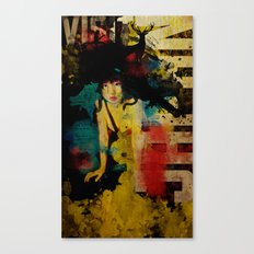 Visit Japan. Painterly Tourism Campaign Japanese style. Canvas Print