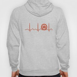 Agricultural Engineer Heartbeat Hoody