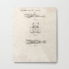 Toy Space Vehicle Vintage Patent Hand Drawing Metal Print
