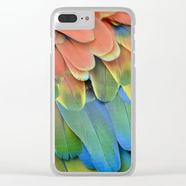 Parrot Feathers Clear iPhone Case