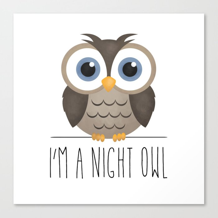 I'm A Night Owl Canvas Print