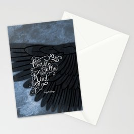 Six of Crows book quote design Stationery Cards