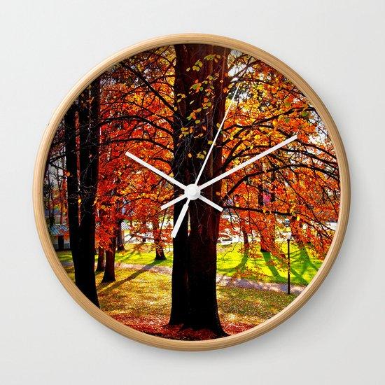 Autumn sunshine Wall Clock