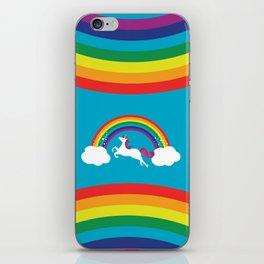 Unicorn Rainbow in the Sky iPhone Skin