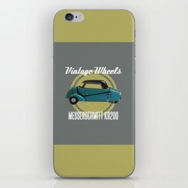 Vintage Wheels - Messerschmitt kr200 iPhone Skin