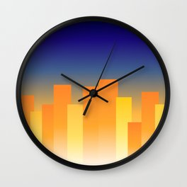 Simple City Sunset Wall Clock