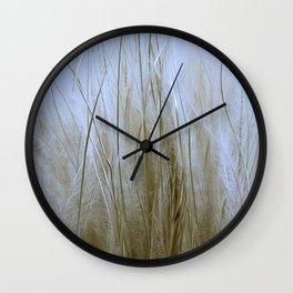 Feather Grass Wall Clock
