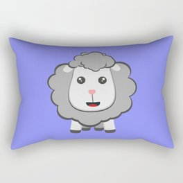 Big eyed kawaii sheep Rectangular Pillow