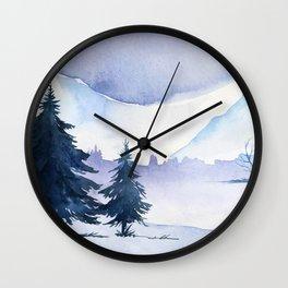 Winter Landscape 6 Wall Clock