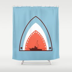 Great White Attack Shower Curtain