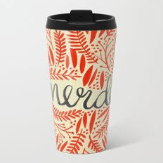 Pardon My French – Red on Cream Metal Travel Mug
