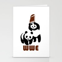 wwe Stationery Cards featuring Panda Wwe by Maxvtis
