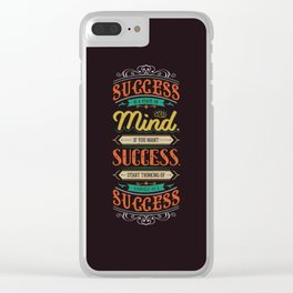 Lab No. 4 Success Is Joyce Brothers Life Inspirational Quote Clear iPhone Case