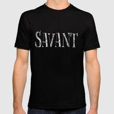 Savant - white on black version Mens Fitted Tee Black MEDIUM