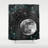 borderlands Shower Curtains featuring Midnight by Astrablink7