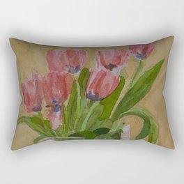 Blue Centers Rectangular Pillow