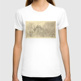Vintage Map of The Colorado River (1858) T-shirt