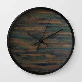 Beautifully patterned stained wood Wall Clock