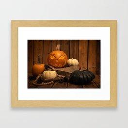 Halloween Pumpkin Framed Art Print