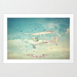 Never Stop Exploring III - THE SKY Art Print