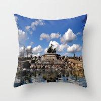 copenhagen Throw Pillows featuring fountain copenhagen by  Agostino Lo Coco