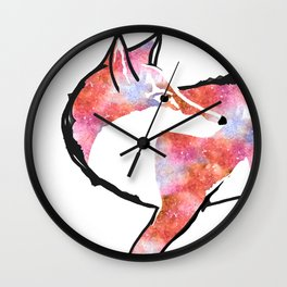 Fox for Fire  Wall Clock