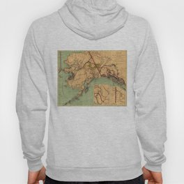 Vintage Map of Gold and Coal in Alaska (1898) Hoody