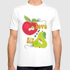 Love is in the Air White Mens Fitted Tee MEDIUM