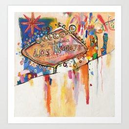 Las Angeles  Art Print