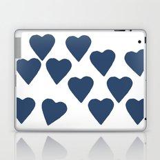 Hearts Navy Laptop & iPad Skin
