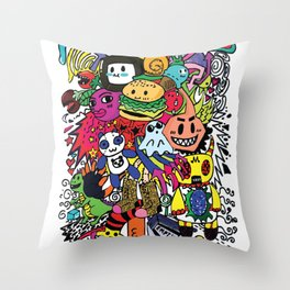 Doodles! Throw Pillow
