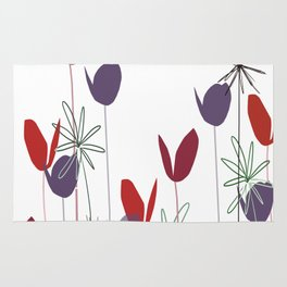 Flowers print, impresion decorativa Rug