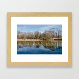 Fall Lake Reflection Framed Art Print