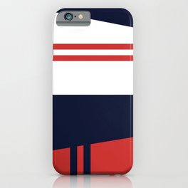 Abstract Geometric Red and Blue iPhone Case