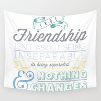 friendship Wall Tapestries featuring True Friendship by Conteur Co.
