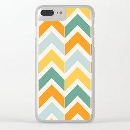 Citrus Chevron Clear iPhone Case