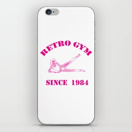 Retro Gym iPhone Skin