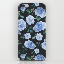 Blue Roses Flower pattern iPhone Skin