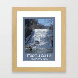 Ithaca Falls Framed Art Print