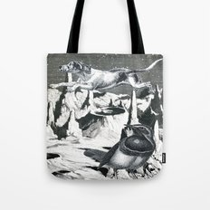 Yes, It's Safer Up Here ! Tote Bag