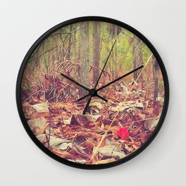 Lonely red flower Wall Clock