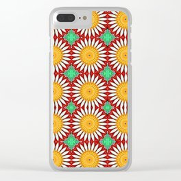 Porcelain Daisies Clear iPhone Case