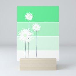 simple flowers - teal Mini Art Print