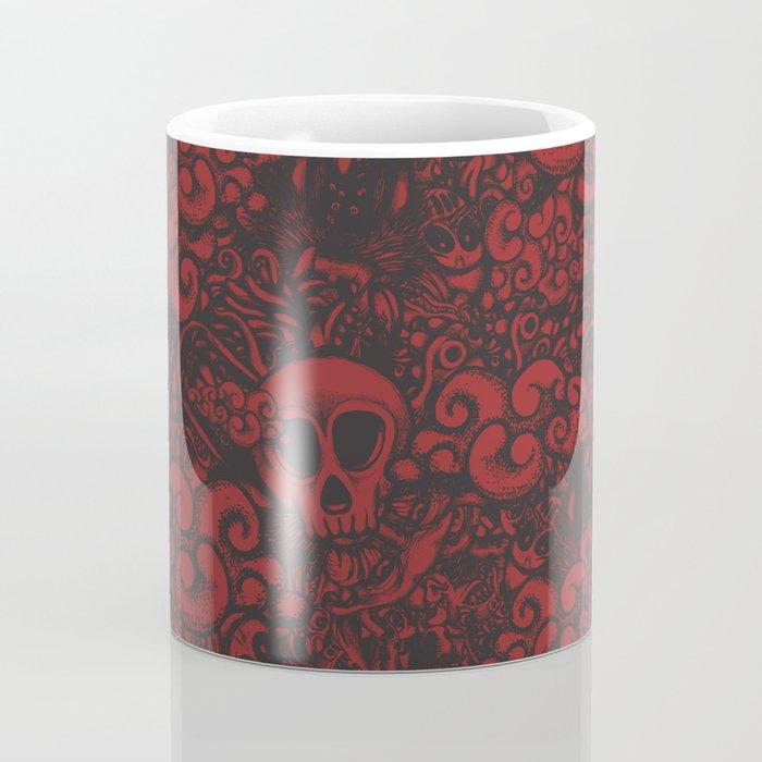 Red doodle Coffee Mug